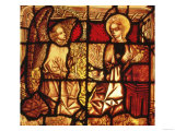 Stained Glass Window Depicting the Annunciation, German, circa 1450 Giclee Print