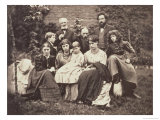 William Morris Sir Edward Burne-Jones and Their Families, 1874 Giclee Print by Frederick Hollyer
