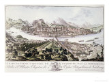 View of the Capital City and Fortress of Salzburg Giclee Print by Friedrich Gotthard Naumann