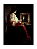 The Penitent Magdalen, circa 1638-43 Giclee Print by Georges de La Tour