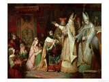 Charlemagne Crowned King of Italy in 774 Giclee Print