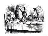 The Mad Hatter&#39;s Tea Party Reproduction proc&#233;d&#233; gicl&#233;e par John Tenniel