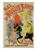 Reproduction of a Poster Advertising the &quot;Bal Au Moulin Rouge,&quot; 1889 Giclee Print by Jules Ch&#233;ret