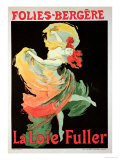 "Reproduction of a Poster Advertising ""Loie Fuller"" at the Folies-Bergere, 1893 Lámina giclée por Jules Chéret"