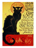 Reopening of the Chat Noir Cabaret, 1896 Giclée-tryk af Théophile Alexandre Steinlen