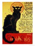 Reopening of the Chat Noir Cabaret, 1896 Gicléedruk van Théophile Alexandre Steinlen
