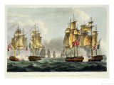 Capture of La Pomone, L'Engageante and La Babet, April 23rd 1794 Giclee Print by Thomas Whitcombe