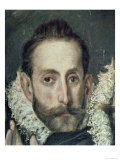 Self Portrait, Detail from the Burial of Count Orgaz, 1586-88 Giclee Print by El Greco