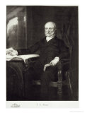 John Quincy Adams, 6th President of the United States of America, Published 1901 Reproduction procédé giclée par George Peter Alexander Healy