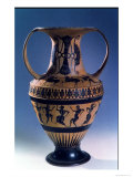 Attic Black Figure Amphora Depicting Dancers, circa 535-38 BC Giclee Print by Nicosthenes