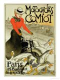 Reproduction of a Poster Advertising Comiot Motorcycles, 1899 Giclee Print by Th&#233;ophile Alexandre Steinlen