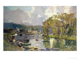Along the Seine at Meudon, circa 1893 Giclee Print by Albert-Charles Lebourg