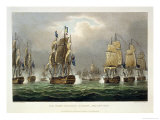 Sir Robert Calder&#39;s Action, July 22nd 1805 Giclee Print by Thomas Whitcombe