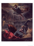 The Dream of St. Mark Giclee Print by Domenico Tintoretto