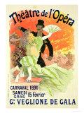 Reproduction of a Poster Advertising the 1896 Carnival at the Theatre De L'Opera Reproduction procédé giclée par Jules Chéret
