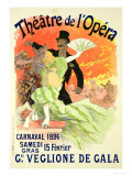 Reproduction of a Poster Advertising the 1896 Carnival at the Theatre De L'Opera Giclée-tryk af Jules Chéret