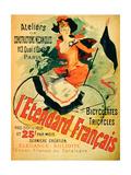 """""""The French Standard,"""" Poster Advertising the Atelier De Constructions Mecaniques Giclée-Druck von Jules Chéret"""
