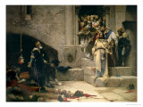 The Legend of the Monk King, or the Bell of Huesca, 1880 Lámina giclée por Jose Casado Del Alisal