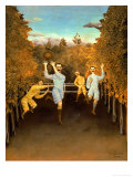 The Football Players,1908 Giclee Print by Henri Rousseau