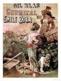 "Poster Advertising the Publication of ""Germinal"" by Emile Zola in ""Gil Blas,"" 25th November 1878 Premium Giclee Print by Leon Choubrac"