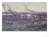 Factories at Le Creusot in 1848, 1855 (Detail) Giclee Print by Ignace Francois Bonhomme