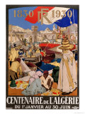 Poster Advertising the Centenary of Algeria, 1930 Giclee Print by Leon Cauvy