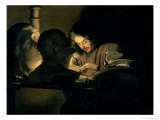 The Artist at Work Giclee Print by Gerrit van Honthorst