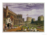 Lower Ward with a View of St. George's Chapel and the Round Tower, Windsor Castle, 1838 Giclee Print by James Baker Pyne