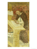 Hugues De Provence at Desk, from the Cycle of &quot;Forty Illustrious Members of the Dominican Order&quot; Giclee Print by Tommaso Da Modena 