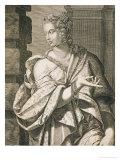 Statilia Messalina Third Wife of Nero Giclee Print by Aegidius Sadeler Or Saedeler