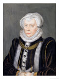 "Portrait of Margaret Douglas Countess of Lennox from ""Memoirs of the Court of Queen Elizabeth"" Reproduction procédé giclée par Sarah Countess Of Essex"