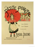 "Reproduction of a Poster Advertising the Operetta ""La Petite Poucette,"" 1891 Giclee Print by Louis Maurice Boutet De Monvel"