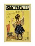 "Reproduction of a Poster Advertising ""Menier"" Chocolate, 1893 Giclée-Druck von Firmin Etienne Bouisset"