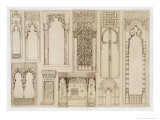 "Islamic and Moorish Design for Shutters and Divans, from ""Art and Industry"" Giclee Print by Jean Francois Albanis De Beaumont"
