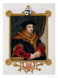 """Portrait of Sir Thomas More (1478-1535) from """"Memoirs of the Court of Queen Elizabeth"""" Premium Giclee Print by Sarah Countess Of Essex"""