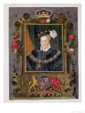 "Portrait of Edward VI King of England, Aged About 14 from ""Memoirs of the Court of Queen Elizabeth"" Giclee Print by Sarah Countess Of Essex"
