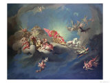 The Apotheosis of the Emperor Charles VI in the Guise of Apollo Reproduction procédé giclée par Paul Troger