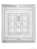 """Plan of the Temple of Solomon, Jerusalem, Fron """"Entwurf Einer Historischen Architektur,"""" 1721 Giclee Print by Johann Bernhard Fischer Von Erlach"""