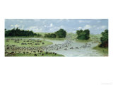 Crossing of the San Joaquin River, Paraguay, 1865, Giclee Print
