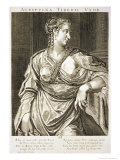 Agrippina Wife of Tiberius Giclee Print by Aegidius Sadeler Or Saedeler