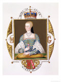 "Portrait of Mary of Guise (1515-60) Queen of Scotland from ""Memoirs of Court of Queen Elizabeth"" Giclee Print by Sarah Countess Of Essex"