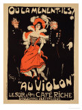 Reproduction of a Poster Advertising the &quot;Cafe Riche,&quot; Boulevard Des Italiens, 1897 Giclee Print by Jules-Alexandre Gr&#252;n