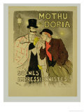 Reproduction of a Poster Advertising Mothu and Doria&#39;In Impressionist Scenes, 1893 Giclee Print by Th&#233;ophile Alexandre Steinlen