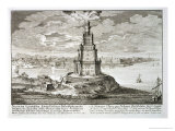 Lighthouse at Alexandria, Built by Ptolemy the Great, Egypt Giclee Print by Johann Bernhard Fischer Von Erlach