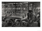 "The Main Workshop of the ""Rime Et Renard"" Factory at Orleans, from ""Les Grandes Usines"" by Turgan Giclee Print by Laurent Victor Rose"