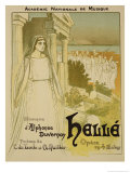 "Reproduction of a Poster Advertising the Opera ""Helle"" Reproduction procédé giclée par Théophile Alexandre Steinlen"