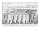 """The Temple of Solomon, Jerusalem, from """"Entwurf Einer Historischen Architektur,"""" 1721 Giclee Print by Johann Bernhard Fischer Von Erlach"""