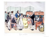 Thanks to the Dowry, Reading a Marriage Contract at the Lawyer Office, circa 1830 Giclee Print by Frederic Bouchot