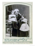 Queen Victoria with Her Grandchildren, Prince Arthur and Princess Margaret of Connaught April 1886 Giclee Print by Alexander Bassano