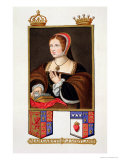"""Portrait of Margaret Tudor Queen of Scotland from """"Memoirs of the Court of Queen Elizabeth"""" Premium Giclee Print by Sarah Countess Of Essex"""